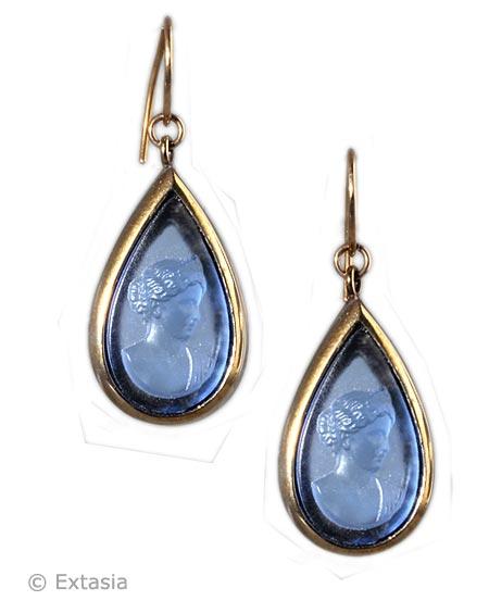 Extasia - Sapphire America Cameo Earrings