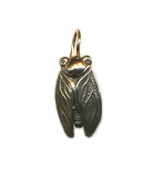 Reproduction bronze Cicada from 18th century Japanese bead. Earrings are about 3/4 of an inch long.