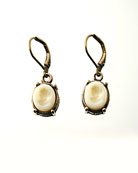 Petite Ivory Intaglio Earring, price: $80.00. Click on 'Large View' for large picture