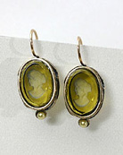 Oval Intaglio Chloe Earring, price: $92.00. Click on 'Large View' for large picture