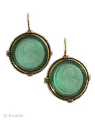 Seafoam Intaglio Earrings, price: $150.00. Click on 'Large View' for large picture