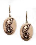 Red Bronze Heron Earrings, price: $85.00. Click on 'Large View' for large picture
